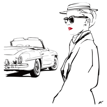 Mercedes Benz 190SL×Grace Kelly.jpg
